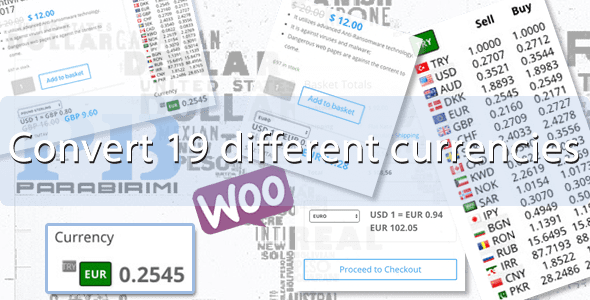 19 Different Currencies Instant Converter for WooCommerce